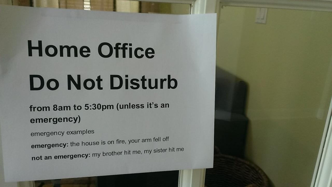 Meme: Do Not Disturb Home Office
